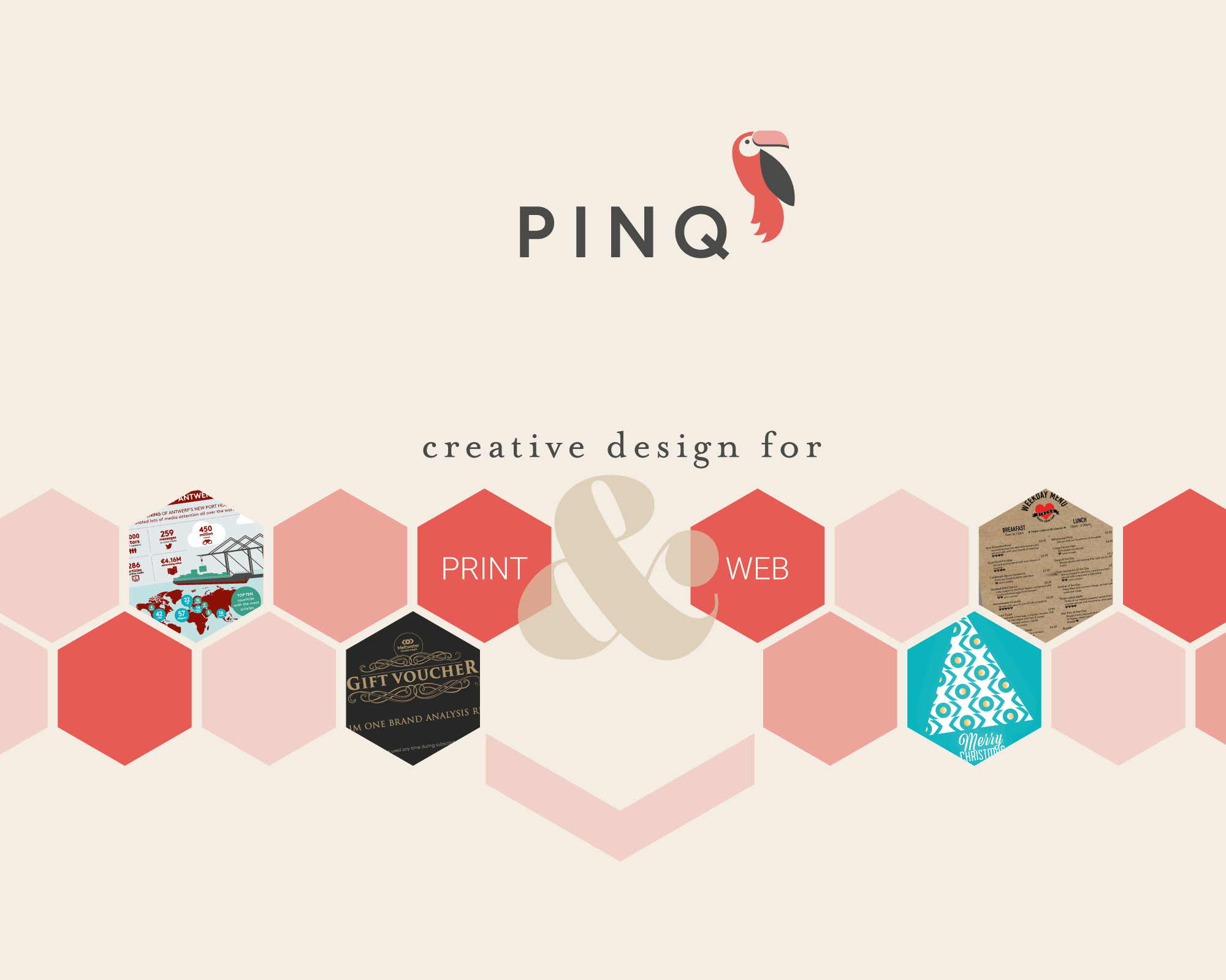 pinq creative design for print and web